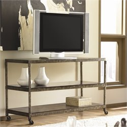 Hammary Structure Entertainment Console/TV Stand in Distressed Brown
