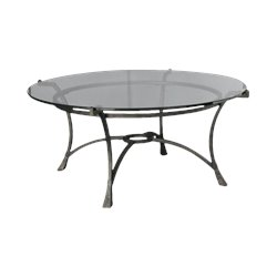 Hammary Sutton Round Cocktail Table in Dark Burnished Finish