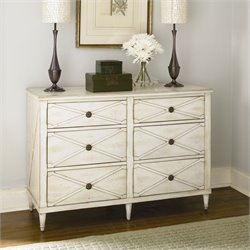 Hammary Hidden Treasures 6 Drawer Accent Chest in White
