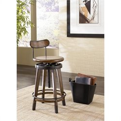 Hammary Studio Home Adjustable Stool in Oak