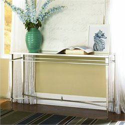 Hammary Mallory Sofa Table in Satin Nickel