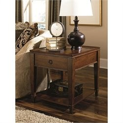Hammary Sunset Valley Drawer End Table in Rich Mahogany
