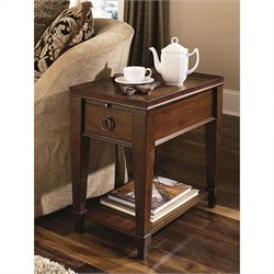 Hammary Sunset Valley Chairside Table in Rich Mahogany
