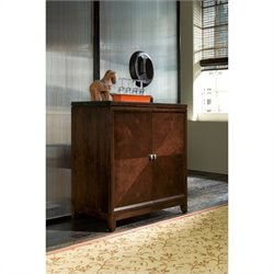 Hammary Tribecca Flip Top Home Bar in Root Beer