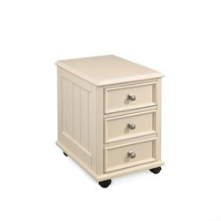 Hammary Camden Mobile File Drawer Cabinet in Painted White