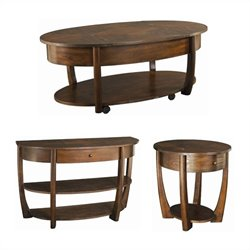Hammary Concierge 3 Piece Coffee Table Set in Brown