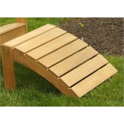 Three Birds Casual Adirondack Patio Footstool in Teak