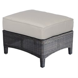 Three Birds Casual Bella Patio Ottoman in Brown