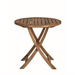 Cambridge Round Folding Teak Cafe Table