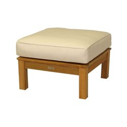 Three Birds Casual Monterey Square Patio Ottoman in Teak
