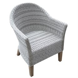 Vienna Patio Dining Chair in Gray