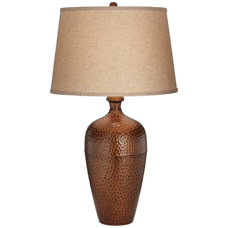 Pacific Coast Lighting Hammered Metal Tall Vase Table Lamp  : 1443774 L from www.cymax.com size 800 x 800 jpeg 53kB