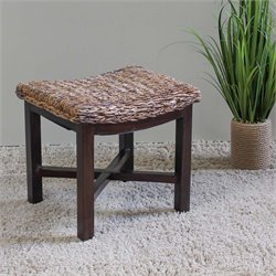 International Caravan Arizona Abaca Vanity Stool in Mahogany