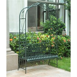 Mandalay Iron Patio Arbor Bench