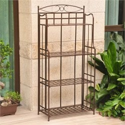 Santa Fe Iron Folding Bakers Rack