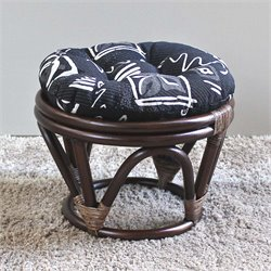 International Caravan Bali Papasan Tapestry Cushion Stool