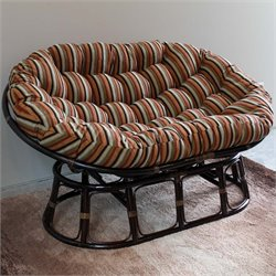 International Caravan Bali Papasan Jacquard Cushion Loveseat