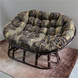 International Caravan Bali Papasan Tapestry Cushion Loveseat