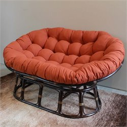 International Caravan Bali Papasan Twill Cushion Loveseat
