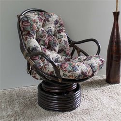 International Caravan Bali Tapestry Cushion Swivel Rocker