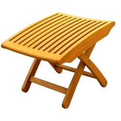 International Caravan Outdoor Wood Folding Foot Rest