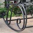 Iron Scroll High-Back Patio Rocking Chair