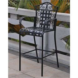 Iron Bar-height Patio Bar Stool (Set of 2)