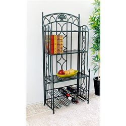 Iron 5-Tier Bakers Rack in Verdi Gris
