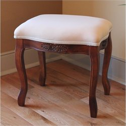 Vanity Stool in Dual Walnut Stain