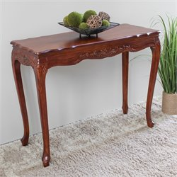 Indoor Console Table in Dual Walnut Stain