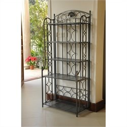 Iron 5-Tier Folding Indoor/Outdoor Bakers Rack