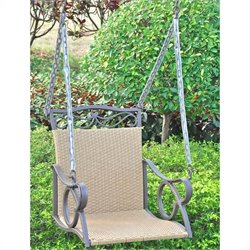 Outdoor Wicker Hanging Patio Swing
