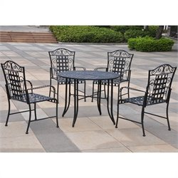 5 Piece Metal Patio Dining Set