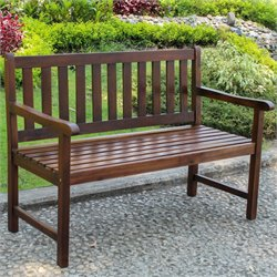 Patio Garden Bench in Brown