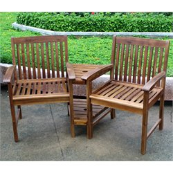 Acacia Double Corner Patio Chair