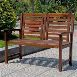 Acacia Trinidad 2-Seater Patio Garden Bench