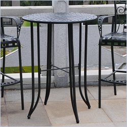 Iron Antique Black Bar-height Patio Bar Table