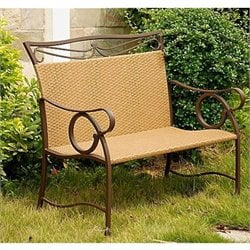 Outdoor Wicker Resin Patio Loveseat