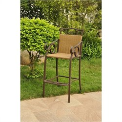 Bar Height Wicker Chair (Set of 2)