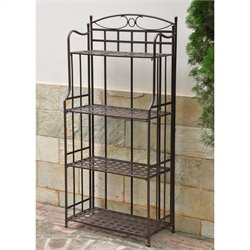 Outdoor Iron Bakers Rack