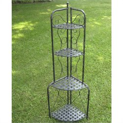 Iron Folding Indoor/Outdoor 4-Tier Bakers Rack