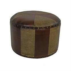Faux Leather Stool in Mix Pattern