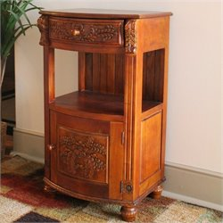 Drawer Telephone Table in Dual Walnut Stain