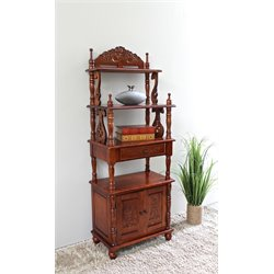 International Caravan Windsor Two Door Bookshelf in Dual Walnut Stain