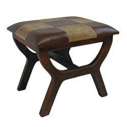 Faux leather Stool in Mixed Pattern