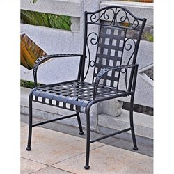 Iron Chairs in Antique Black (Set of 2)