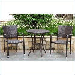 3-Piece Patio Bistro Set in Chocolate