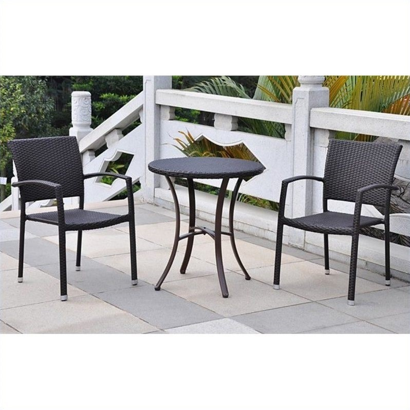 3-Piece Bistro Set in Black Antique