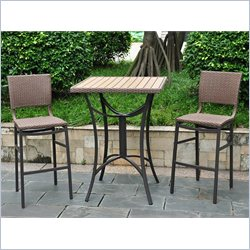 5-Piece Bistro Set in Antique Brown