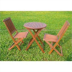 Folding Chair in Premium Stain(Set of 2)
